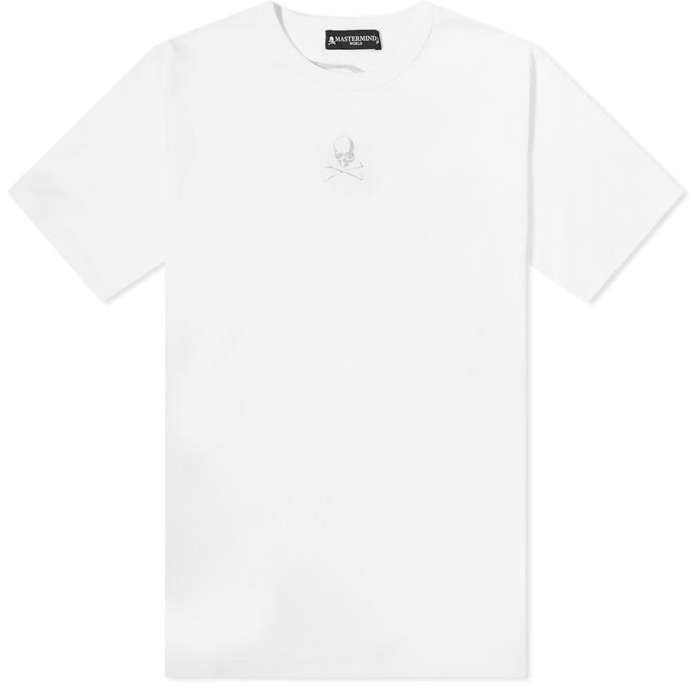 MASTERMIND WORLD Glitter Logo Tee - White
