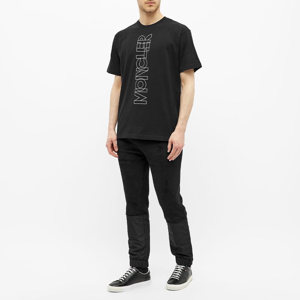 Moncler Grenoble Vertical Logo Tee - Black