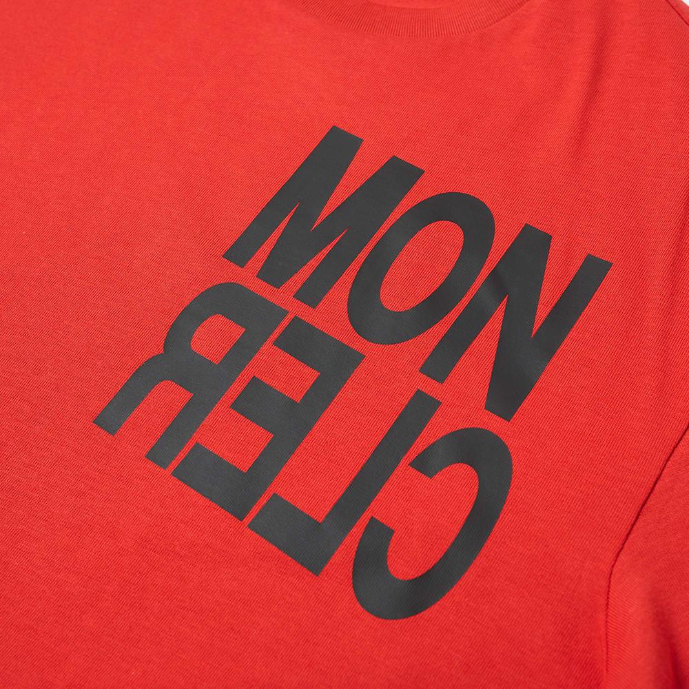 Moncler Grenoble Bold Logo Tee - Red