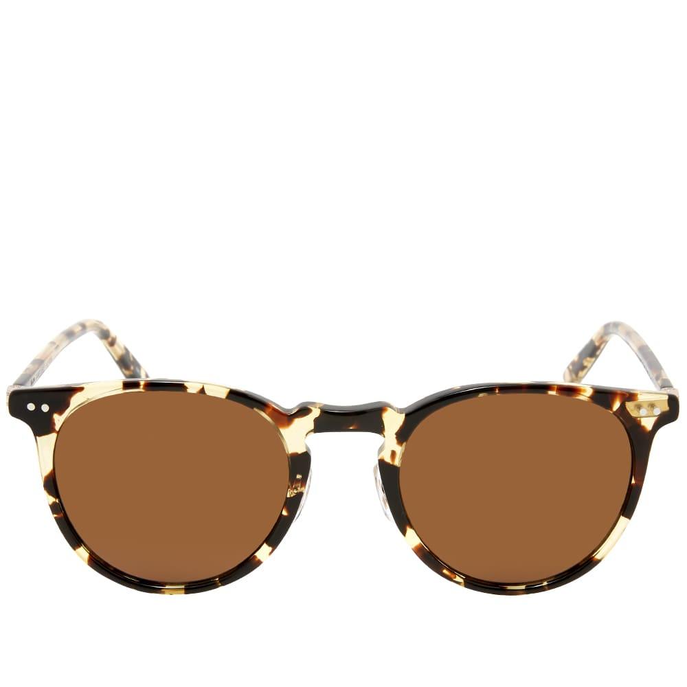 Garrett Leight Ocean Sunglasses - Tortoise, Gold & Sienna