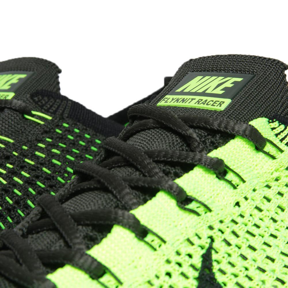 Nike Flyknit Racer - Volt, Electric Green & Summit