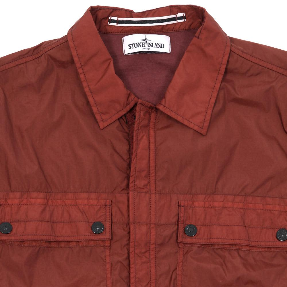 Stone Island Garment Dyed Resin Shirt Jacket - Bordeaux