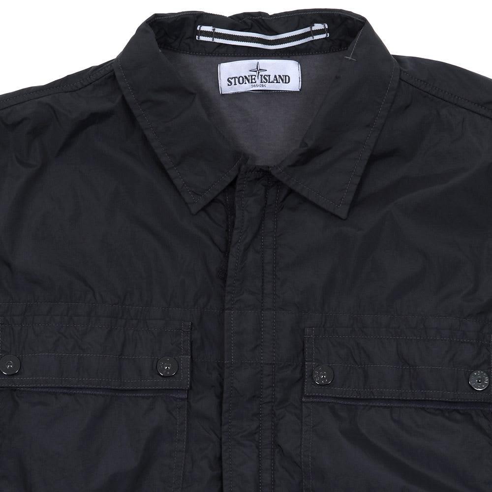 Stone Island Garment Dyed Resin Shirt Jacket - Blue