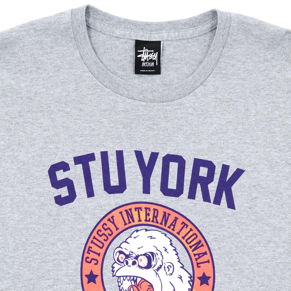Stussy Gorillas Tee - Grey Heather & Purple