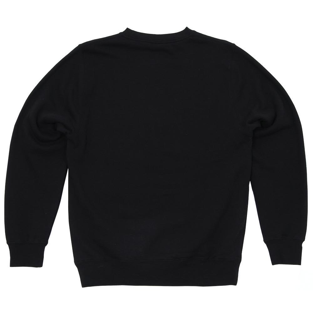 Stussy Stripe Dot Crew Fleece - Black & Green