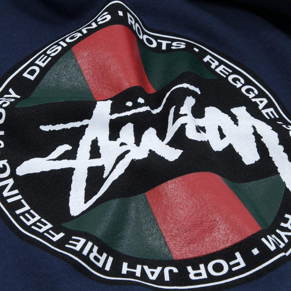 Stussy Stripe Dot Crew Fleece  - Indigo & Navy