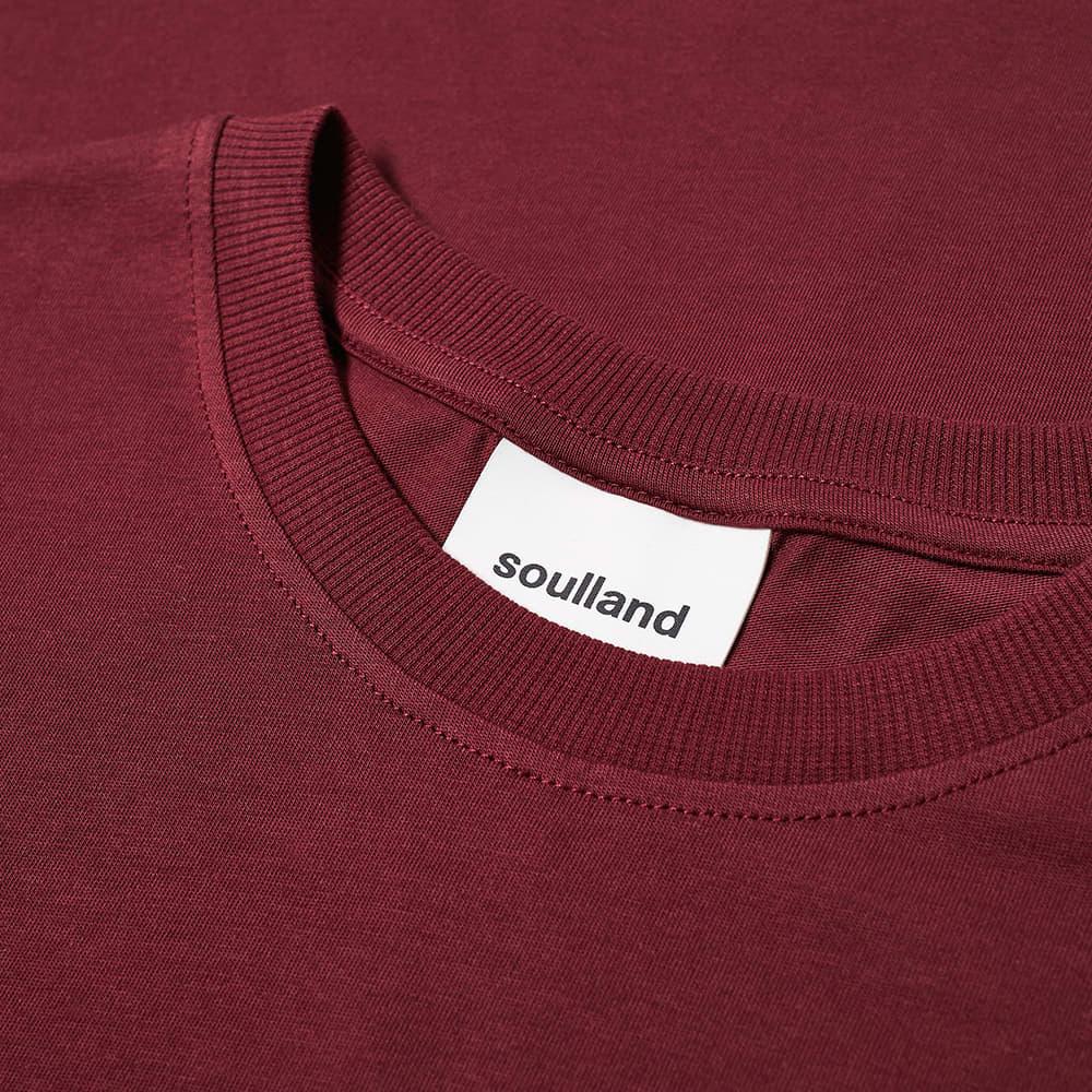Soulland Coffey Logo Tee - Burgundy