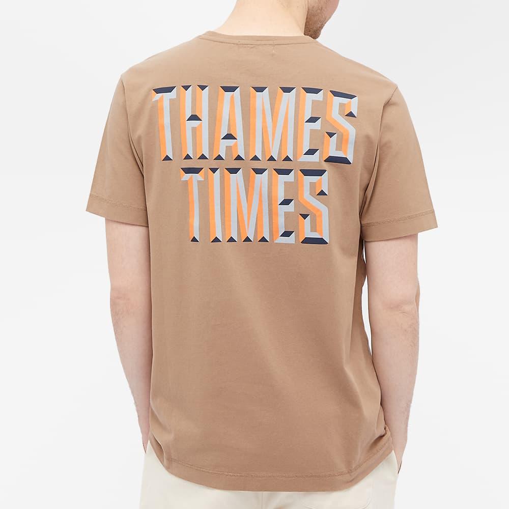 Thames Times Tee - Brown