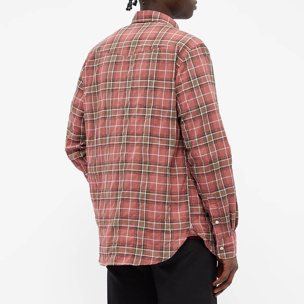 Officine Générale Antime Check Shirt - Brown & Faded Pink