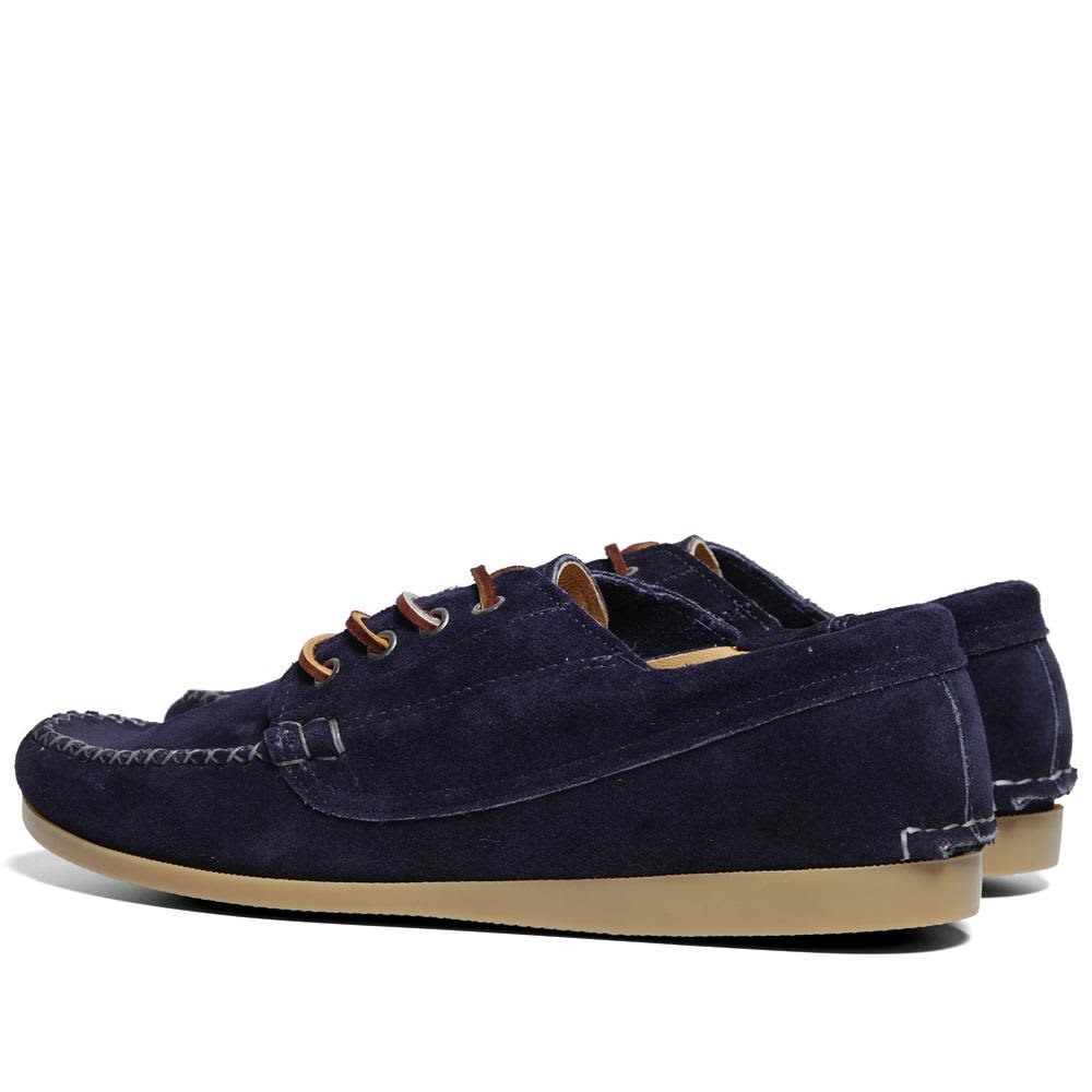 Quoddy Camp Sole Maliseet Oxford - Navy Blue Suede