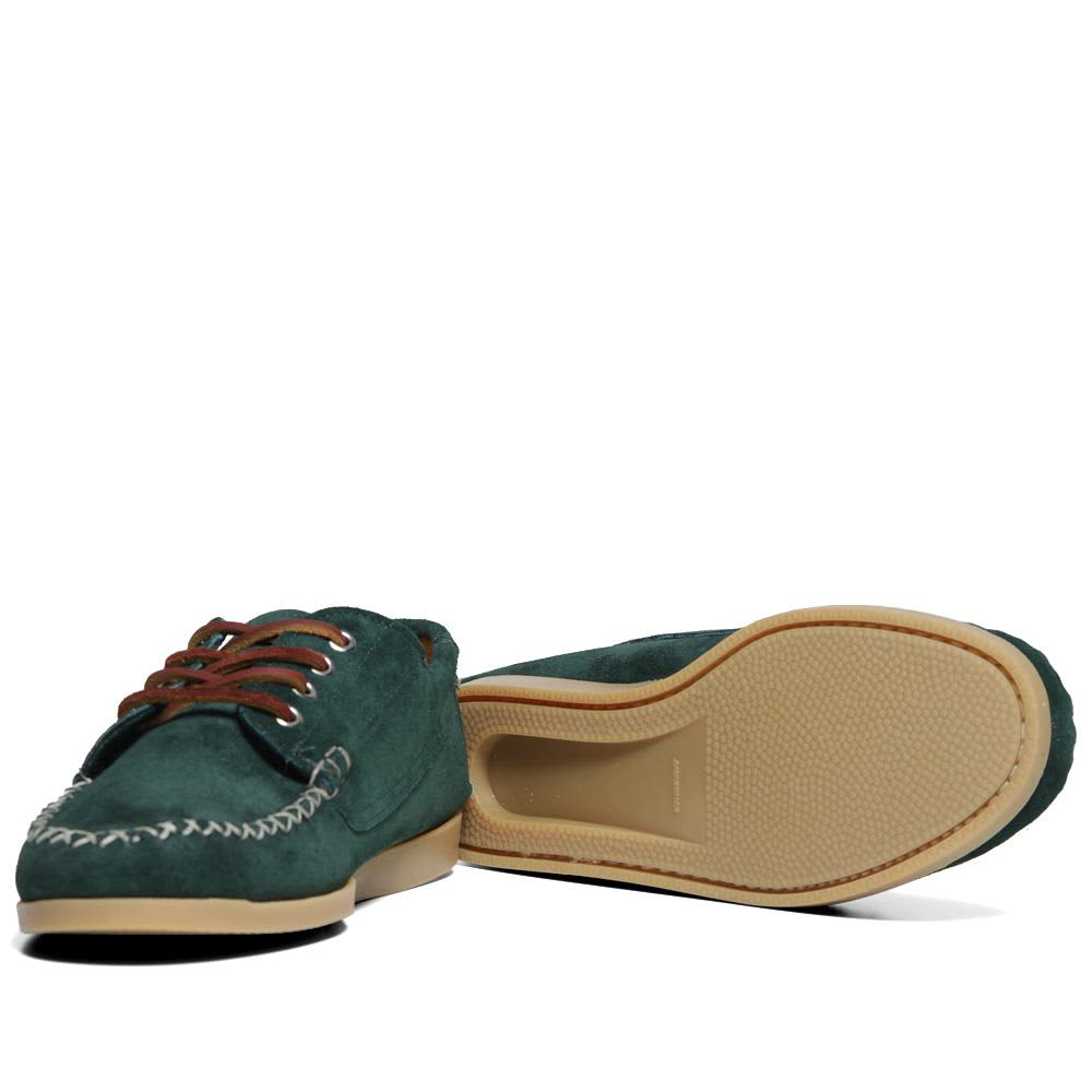 Quoddy Camp Sole Maliseet Oxford - Forest Green Suede