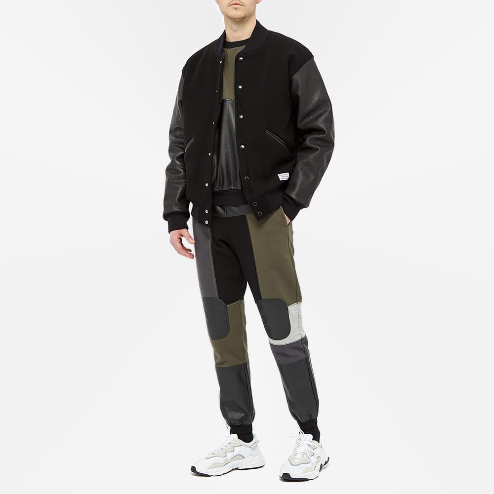 GR-Uniforma Patchwork Panel Sweat - Khaki & Black Patchwork