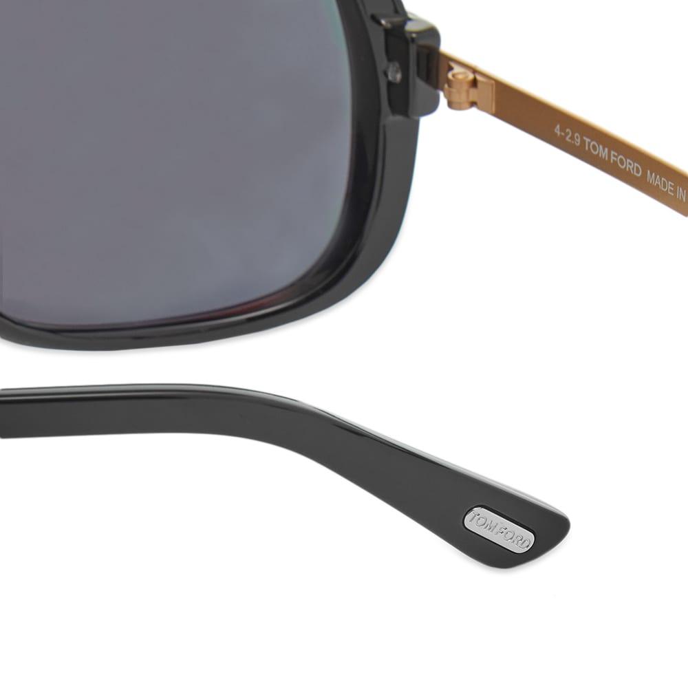 Tom Ford FT0800 Caine Sunglasses - Shiny Black & Smoke