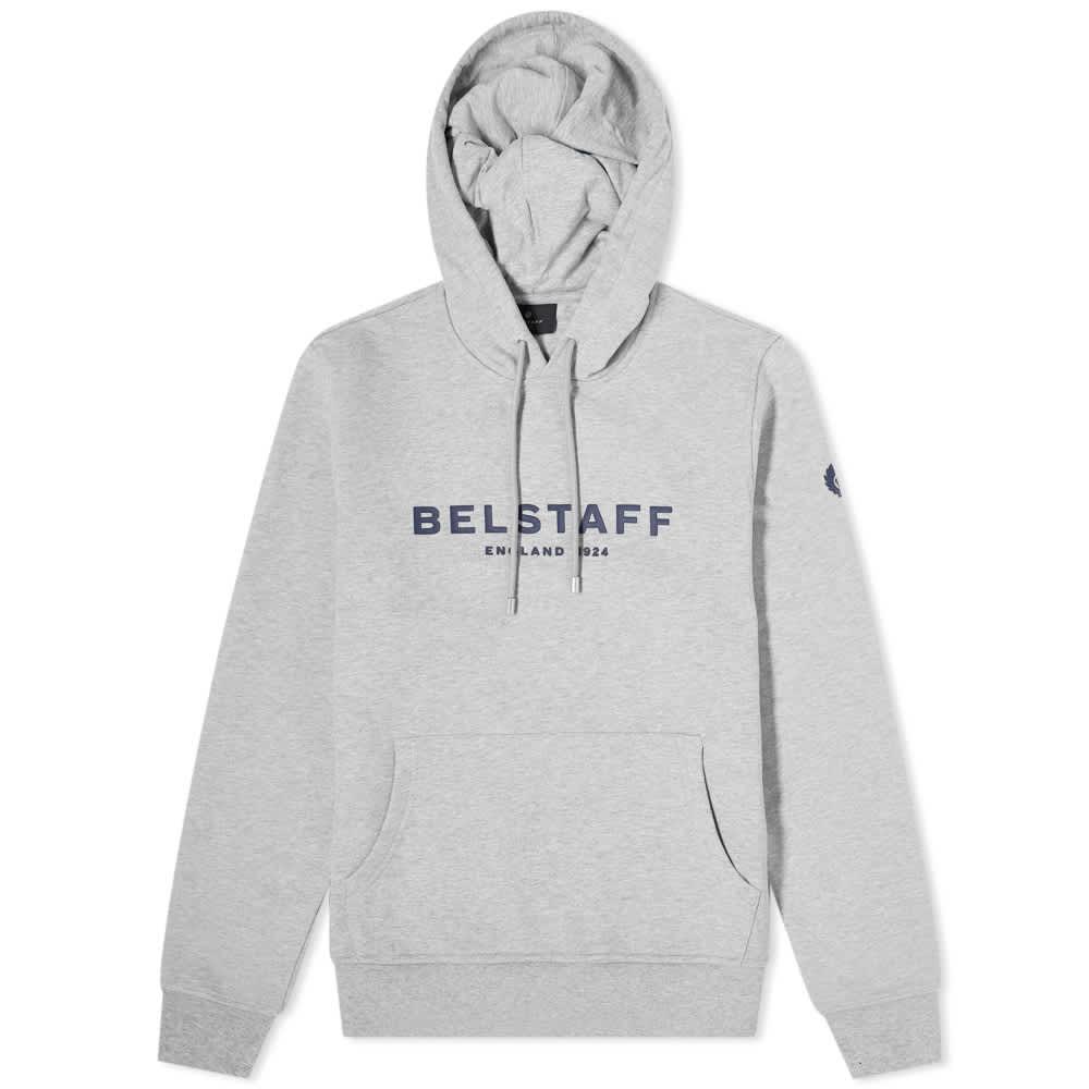 Belstaff 1924 Logo Popover Hoody - Grey & Navy