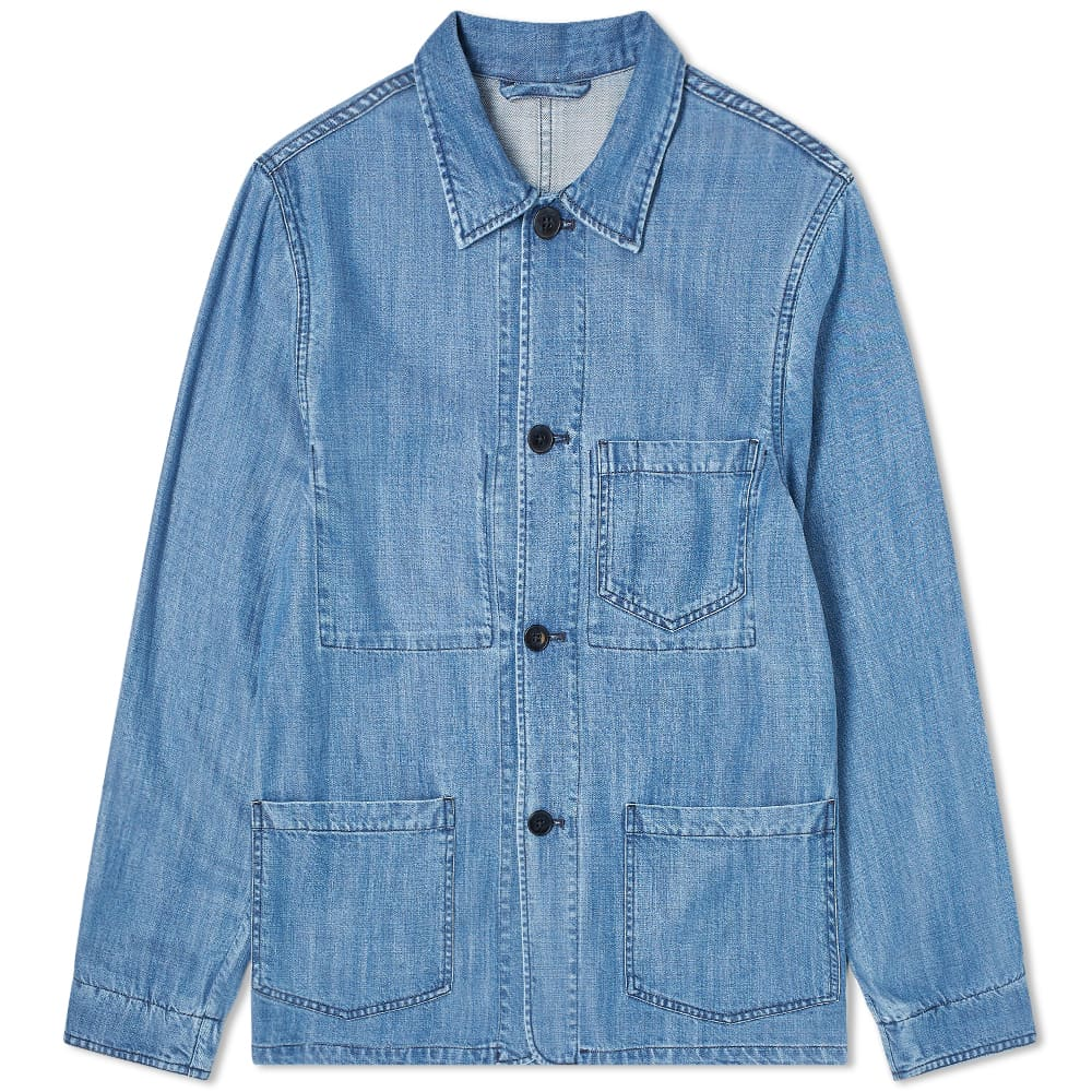 Officine Générale Indigo Chore Jacket - Indigo