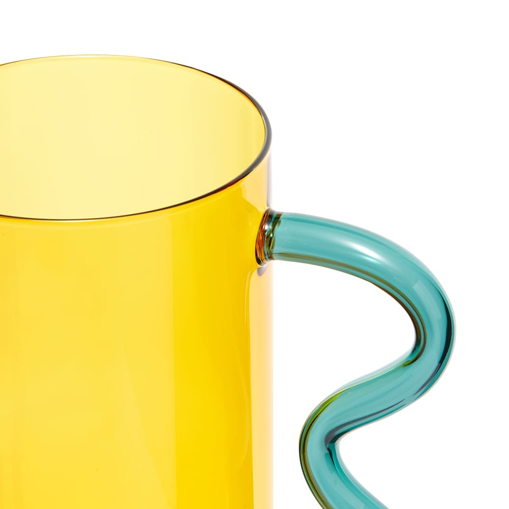 Sophie Lou Jacobsen Wave Pitcher - Yellow & Teal