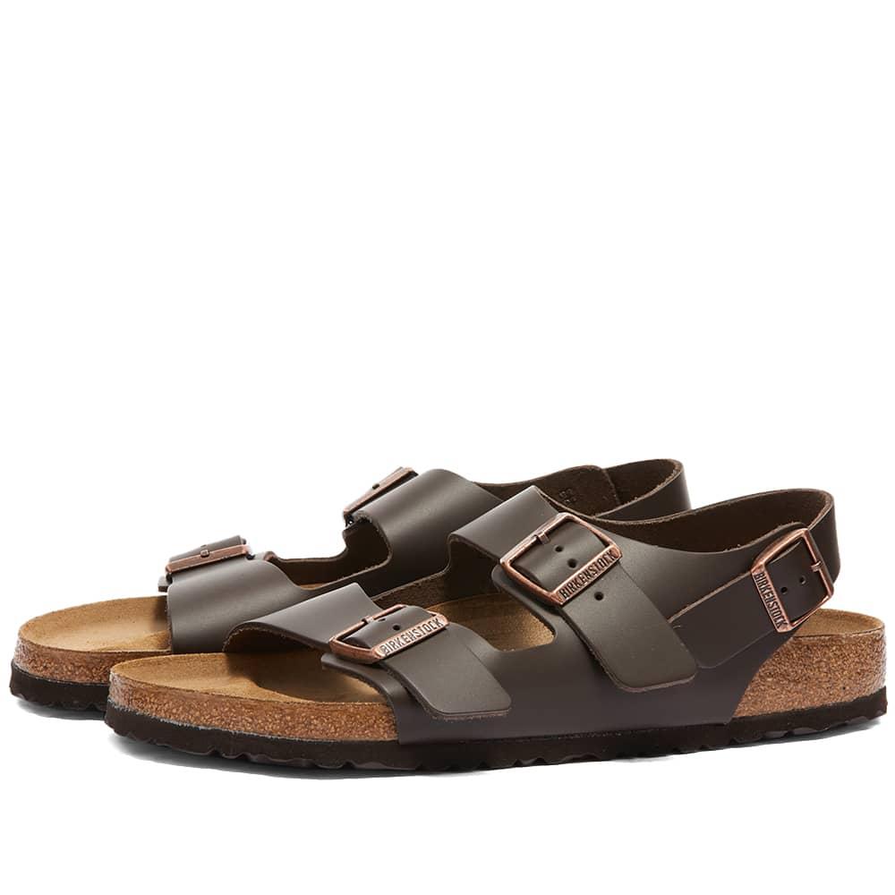 Birkenstock Milano - Dark Brown Smooth Leather