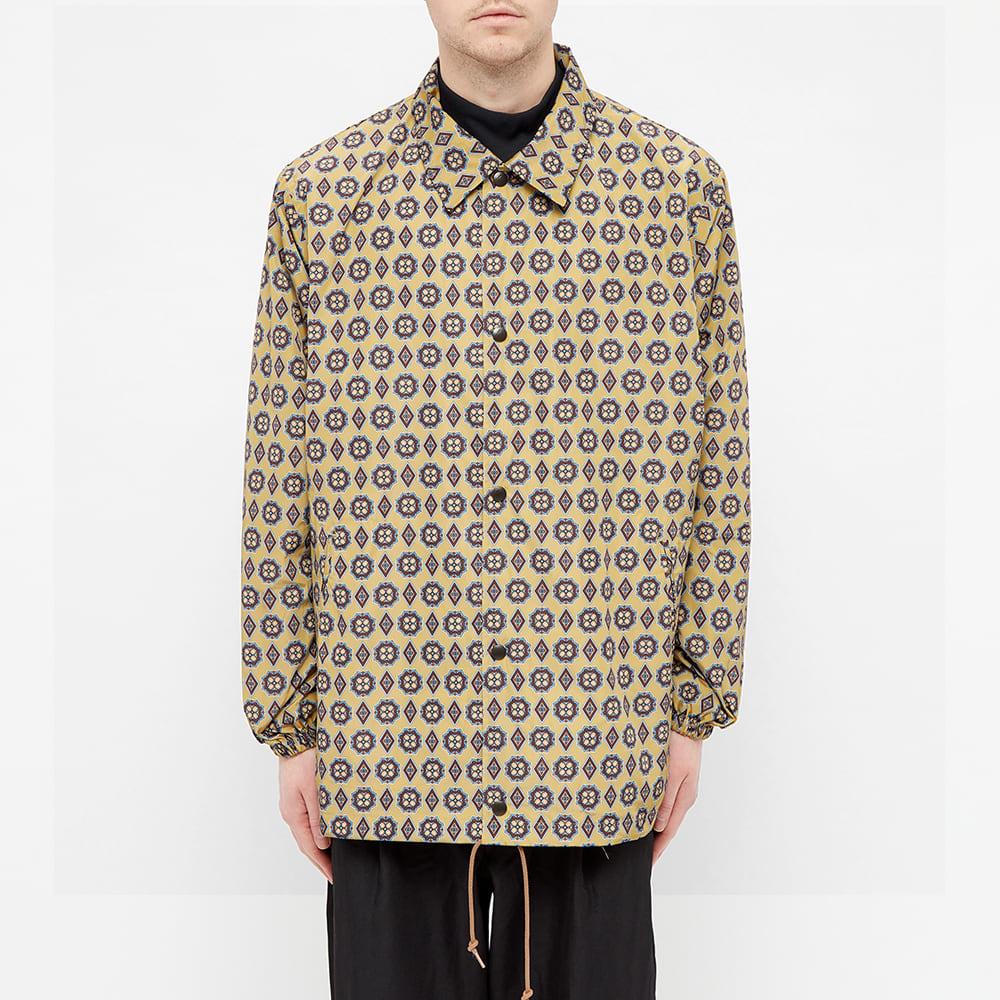 Needles Printed Coach Jacket - Khaki & Fine Print