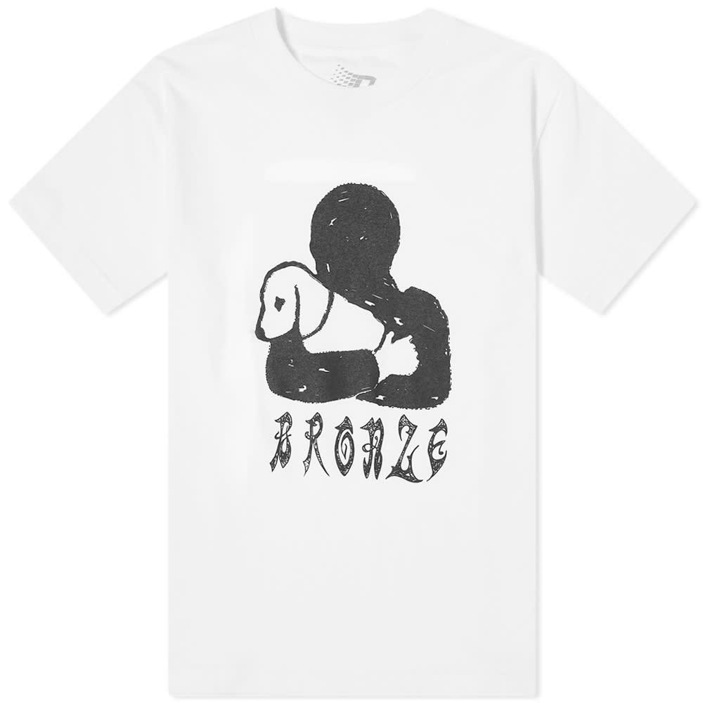 Bronze 56k Doggy Tee - White