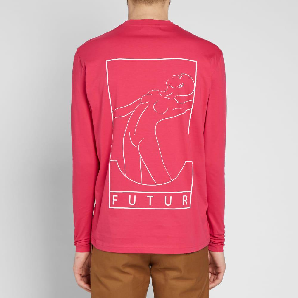 Futur Long Sleeve Back Print Tee - Fuchsia