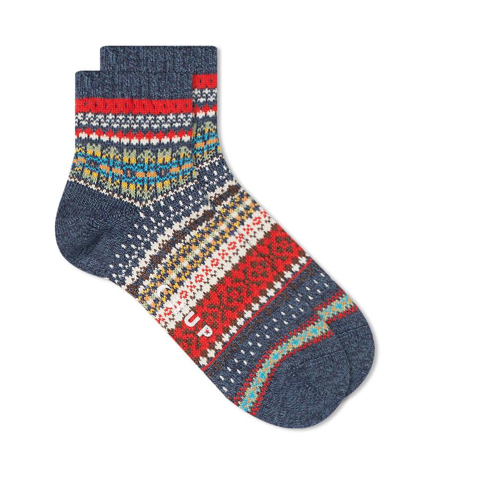 Chup Sulata Quarter Length Sock - Denim