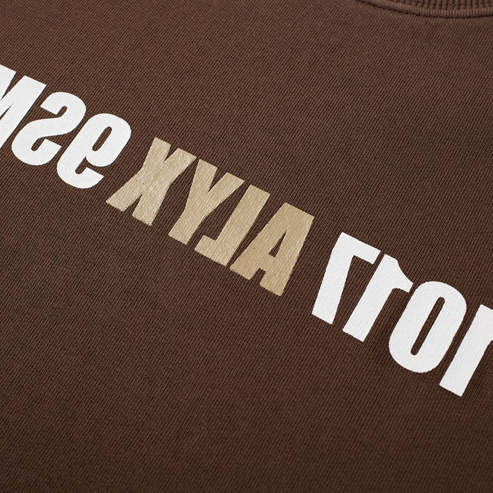 1017 ALYX 9SM Reverse Logo Crew Sweat - Deep Brown
