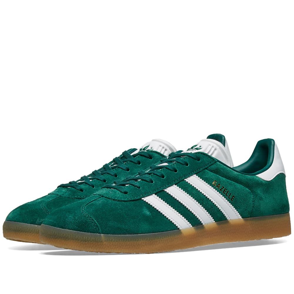 Adidas Gazelle Collegiate Green, White