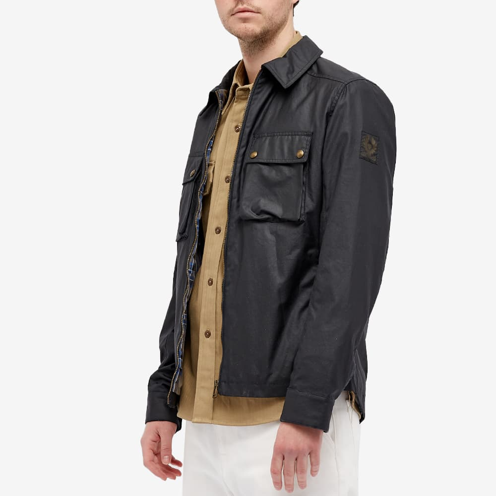 Belstaff Dunstall Zip Waxed Jacket - Navy