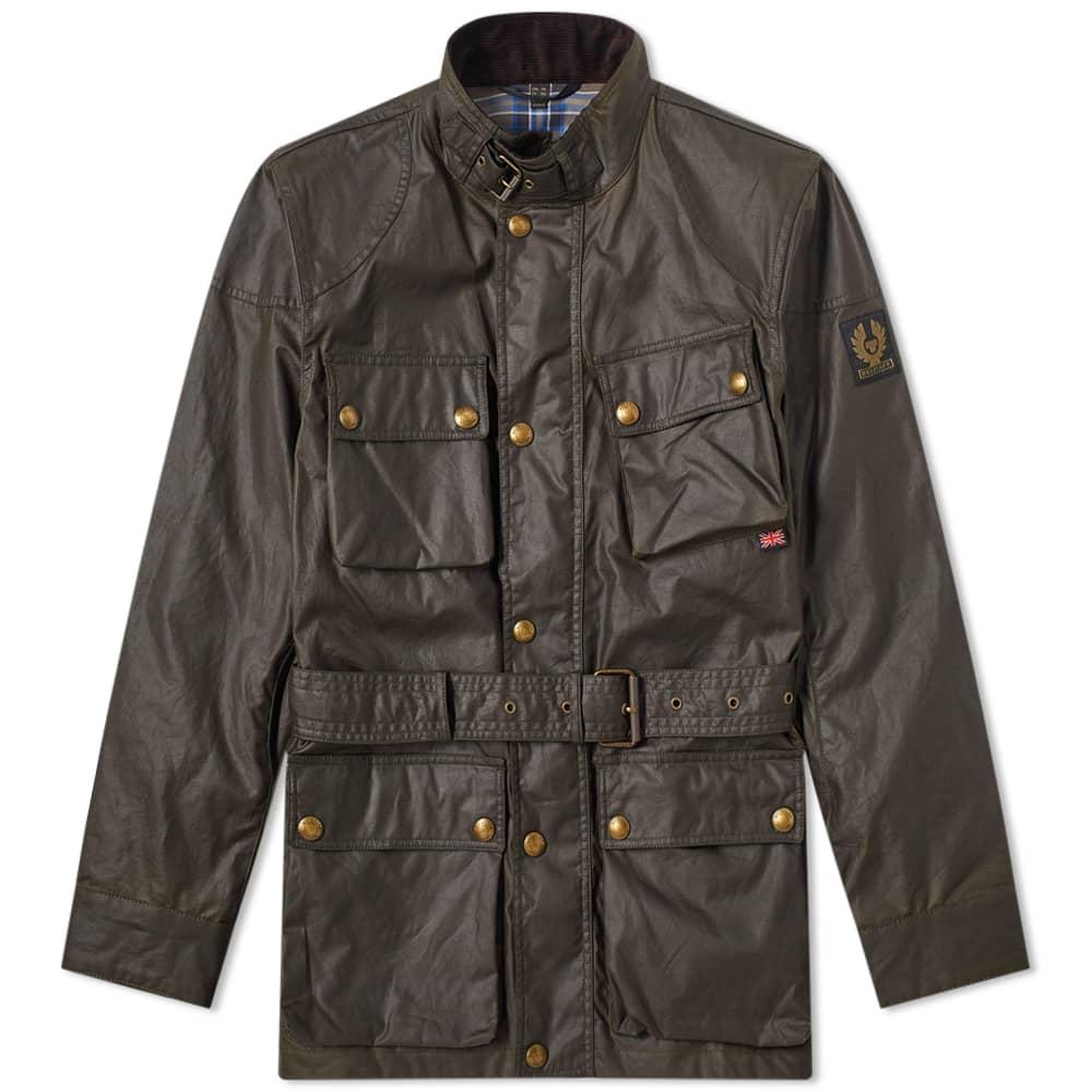 Belstaff Trialmaster Waxed Jacket - Faded Olive