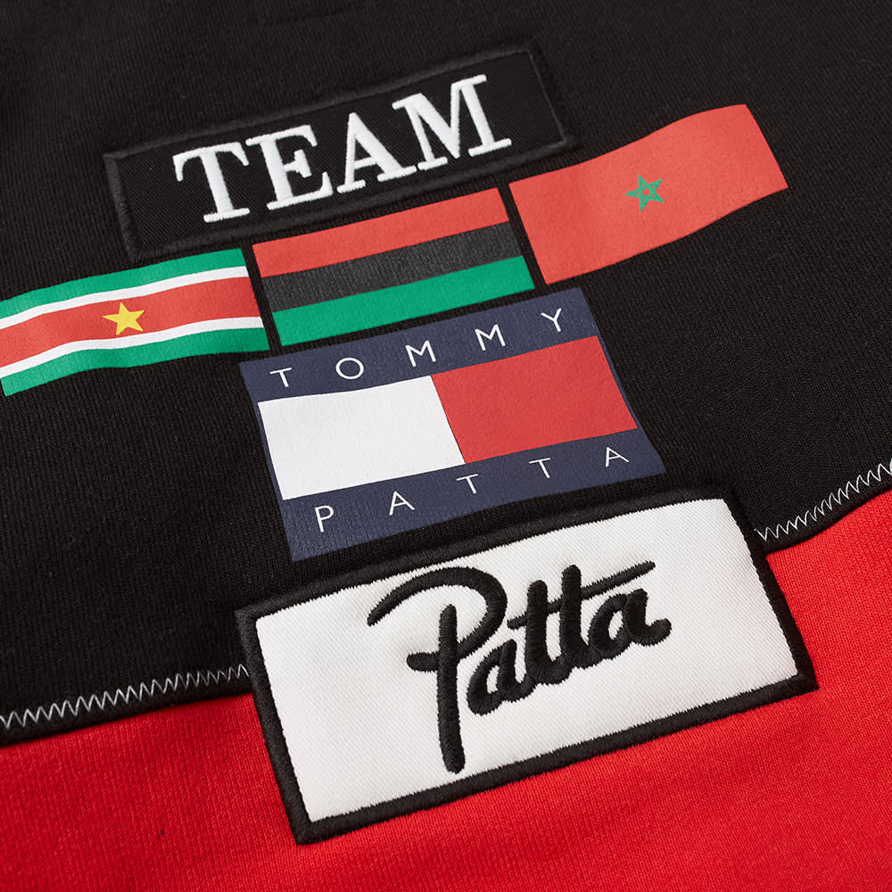 Tommy Jeans x Patta Kids Heavyweight Hoody - Black & High Risk Red