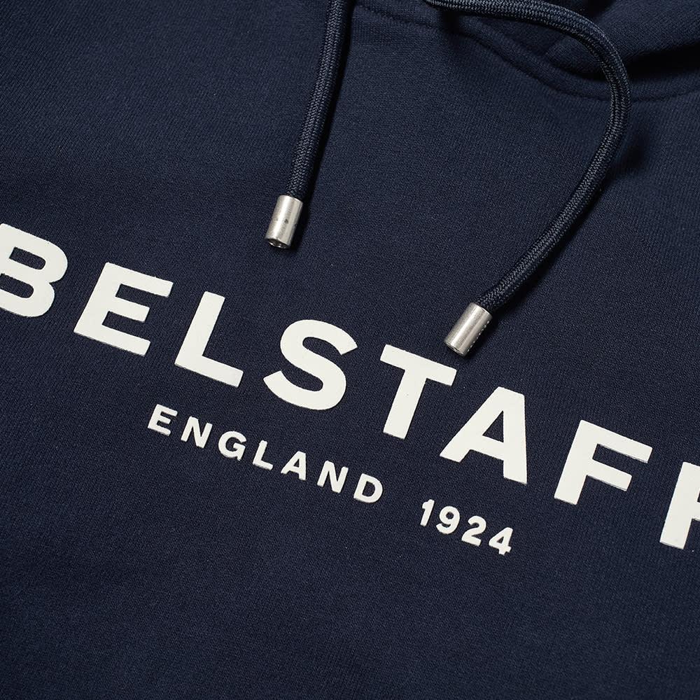 Belstaff 1924 Logo Popover Hoody - Navy & Off White