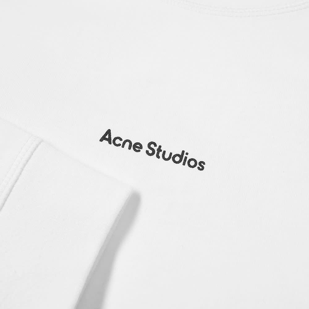 Acne Studios Erwin Long Sleeve Stamp Logo Tee - Optic White