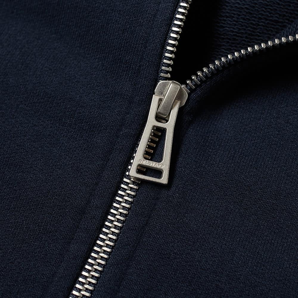 Belstaff Patch Logo Zip Hoody - Dark Ink