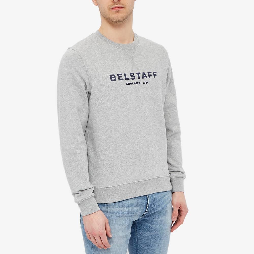 Belstaff 1924 Logo Crew Sweat - Grey & Dark Navy