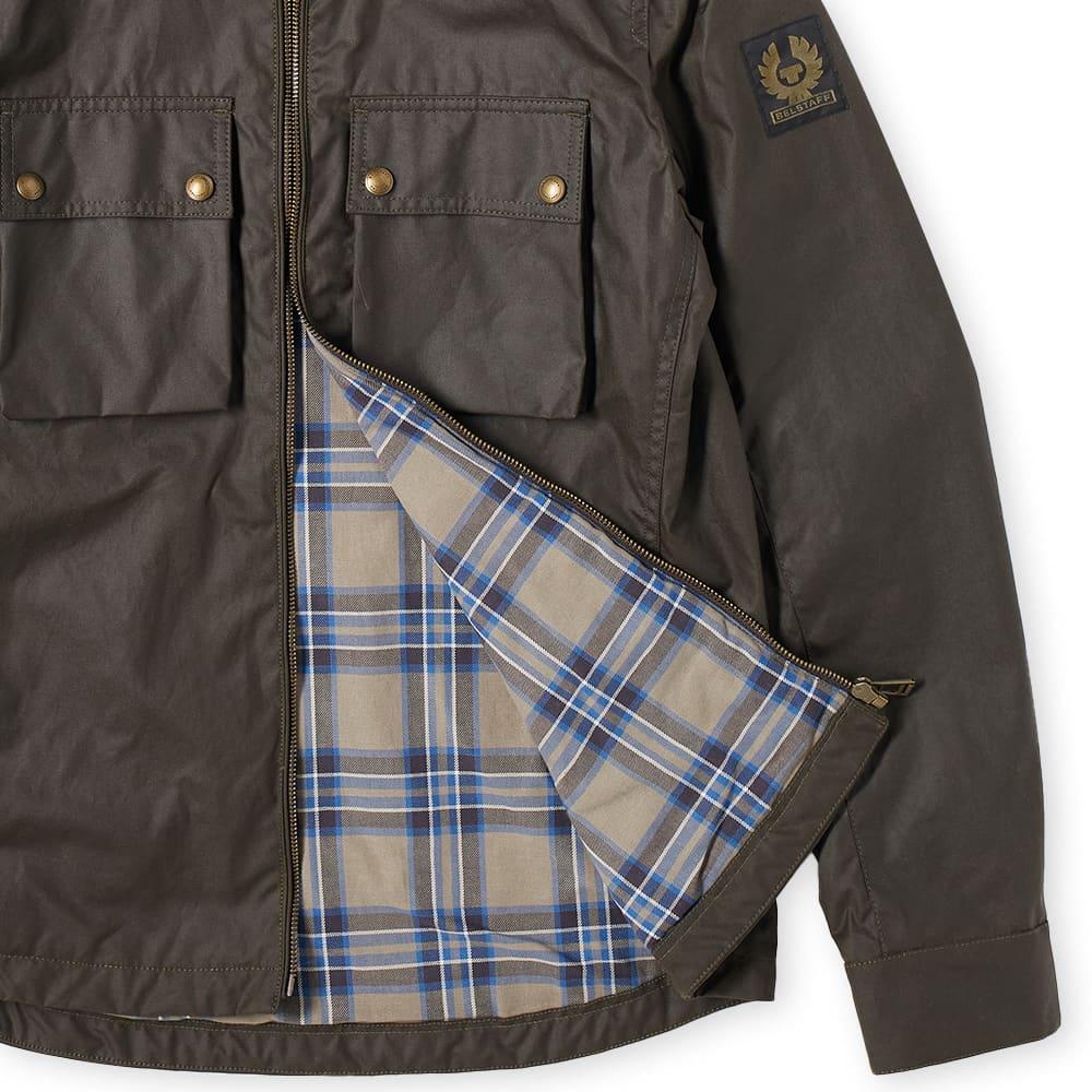 Belstaff Dunstall Zip Waxed Jacket - Faded Olive