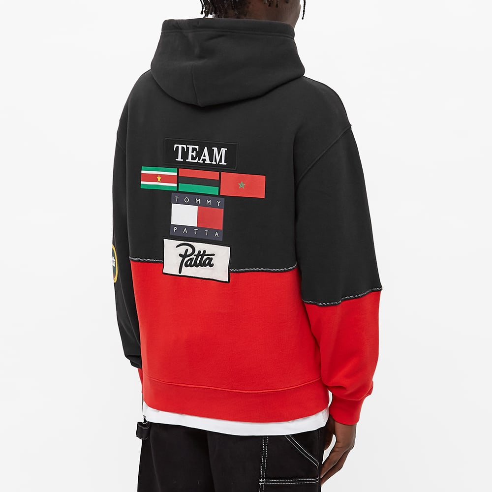 Tommy Jeans x Patta Hoody - Black & High Risk Red