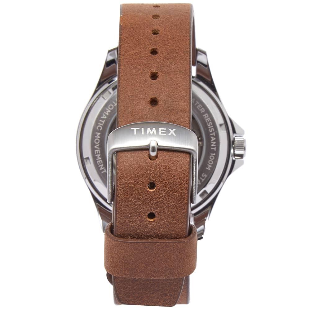 Timex Navi XL Automatic Watch - Green & Brown