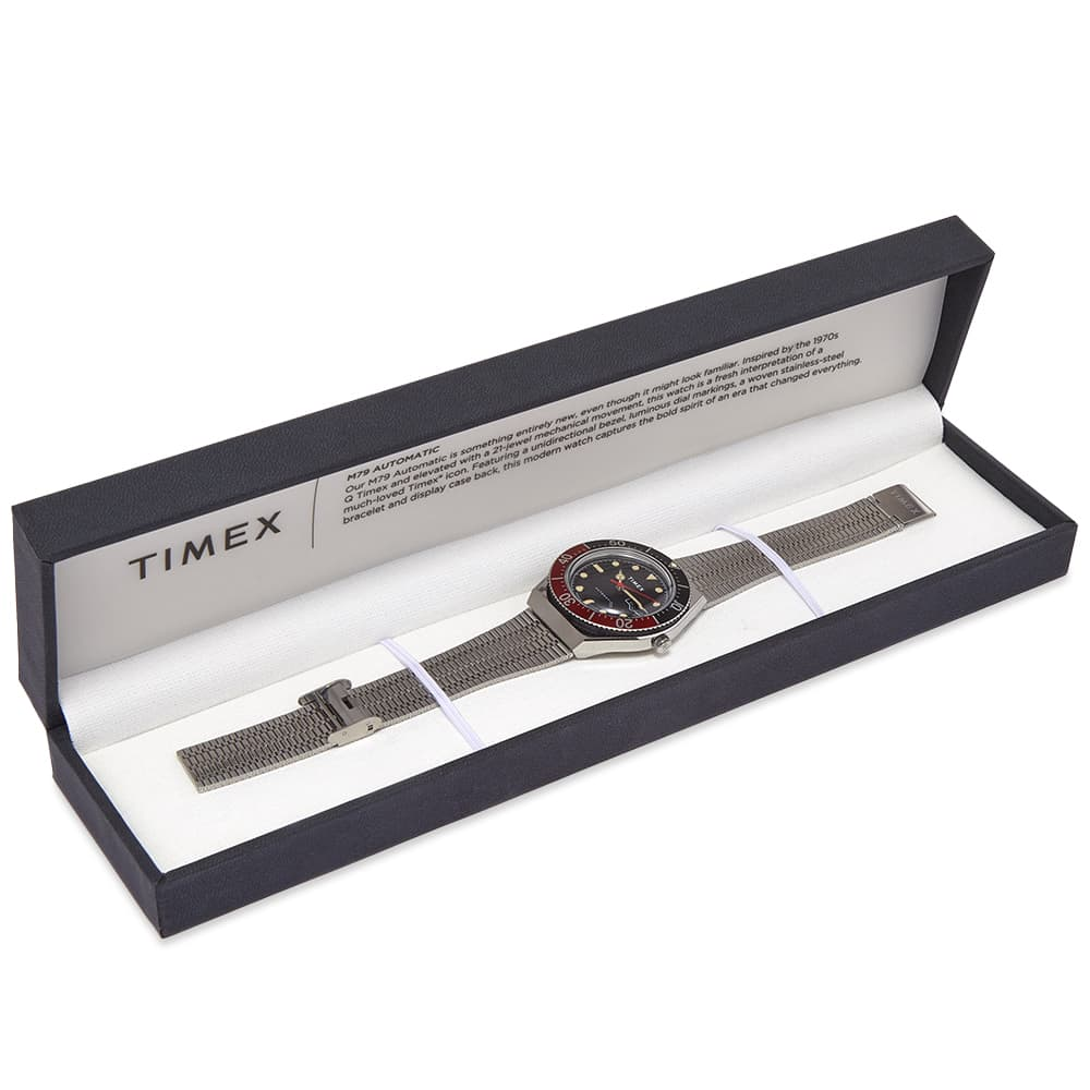 Timex Archive M79 Automatic Watch - Silver & Black