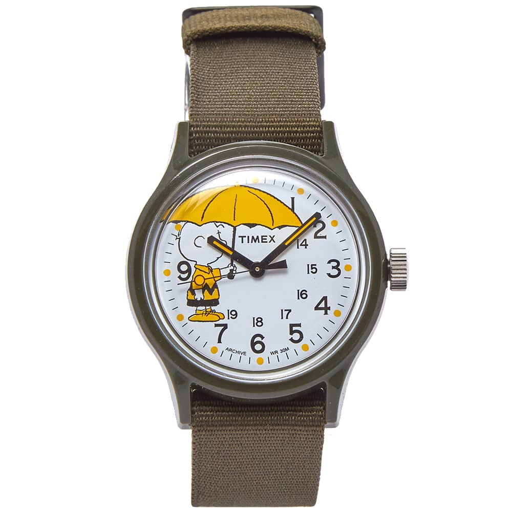 Timex Archive Mk1 Resin Peanuts Edition Charlie Brown - Green & White