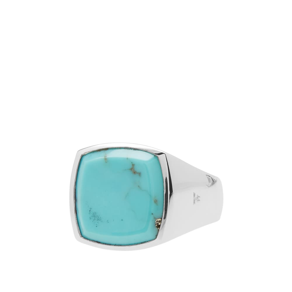 Tom Wood Cushion Ring - Silver & Turquoise