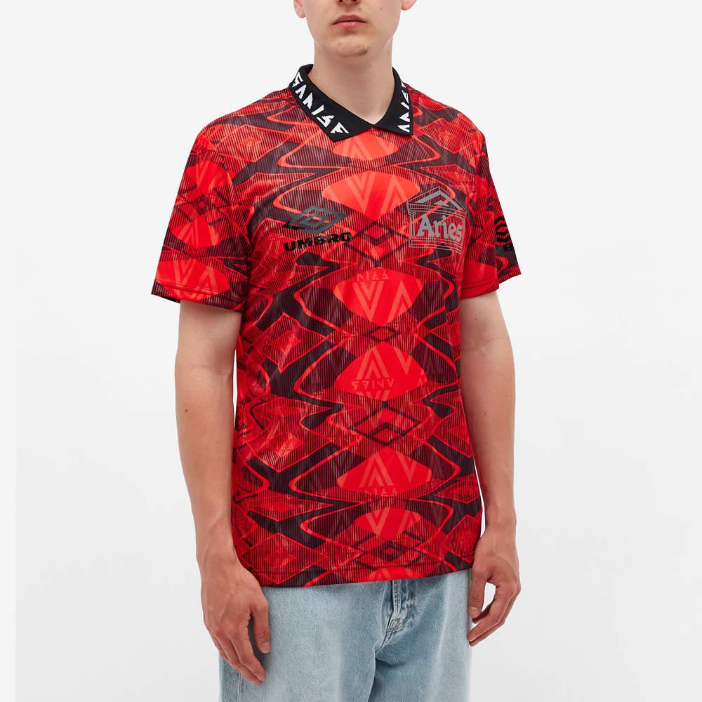 Aries x Umbro Football Jersey - Red & Black
