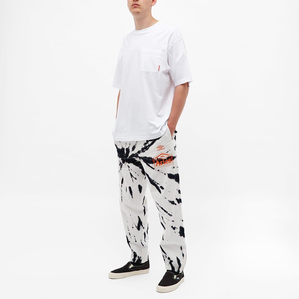 Aries x Umbro Tie Dye Pro 64 Pant - Black Spiral
