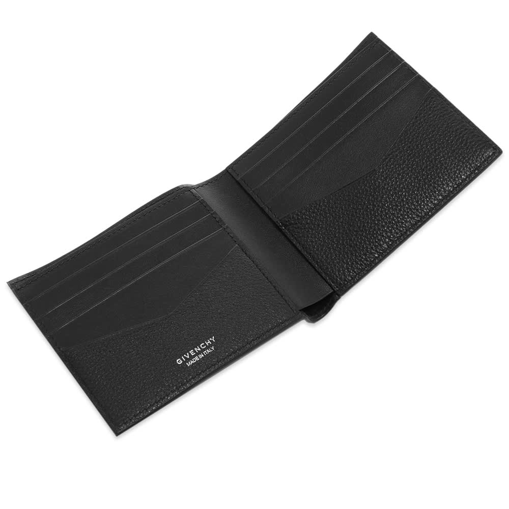 Givenchy 4G Grain Leather Billfold Wallet - Black
