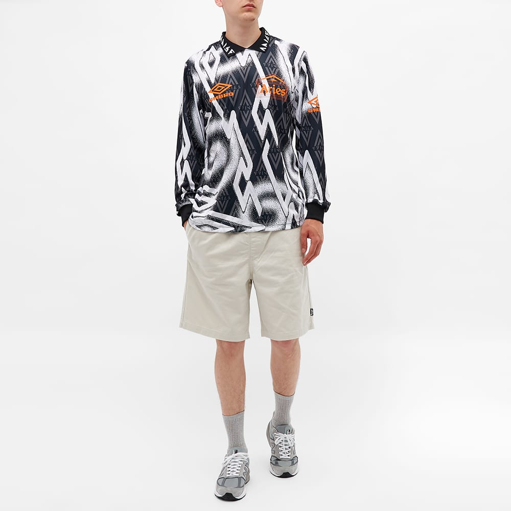 Aries x Umbro Long Sleeve Football Jersey - Black & White