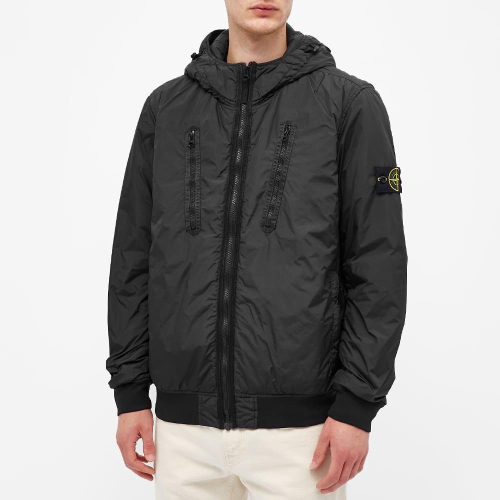 Stone Island Crinkle Reps Pocket Detail Down Jacket - Black
