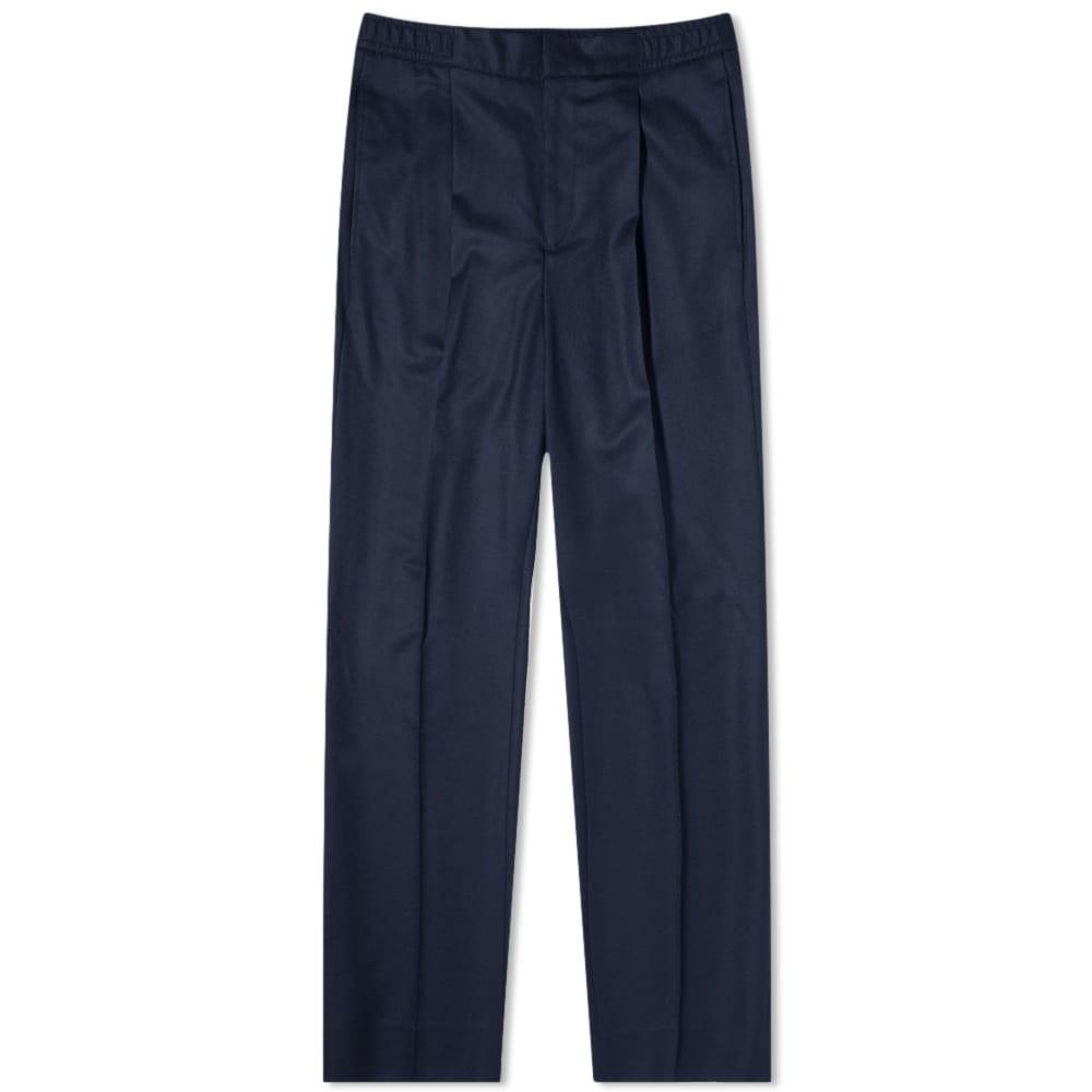 Officine Générale Italian Wool Drew Pants - Navy