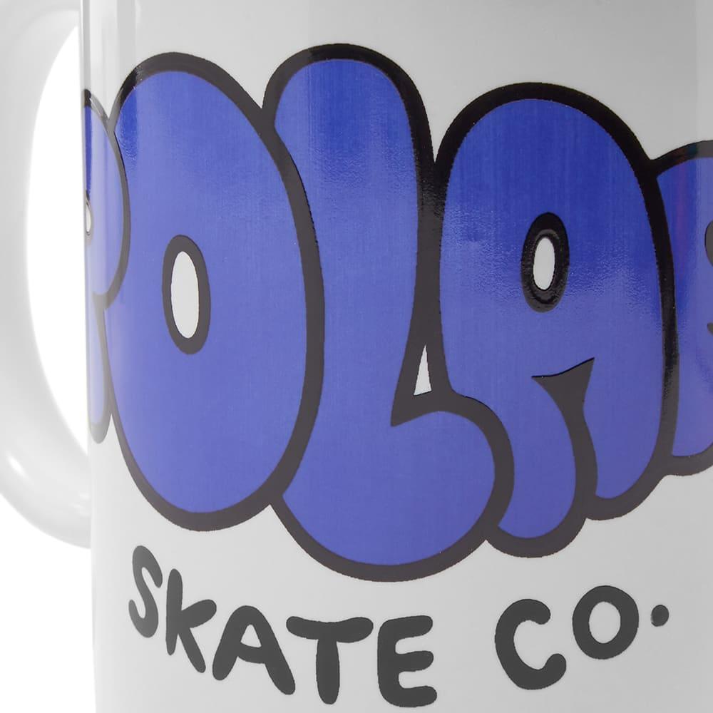 Polar Skate Co Bubble Logo Mug - White & Blue