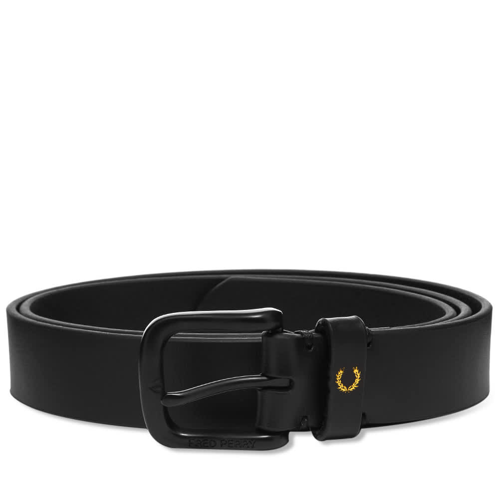 Fred Perry Leather Belt - Black
