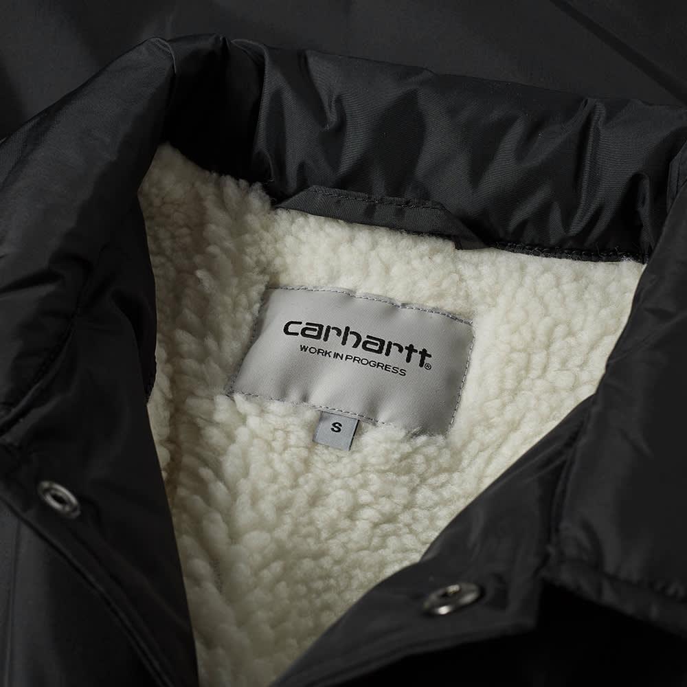 Carhartt WIP Pembroke Pile Coach Jacket - Black & White