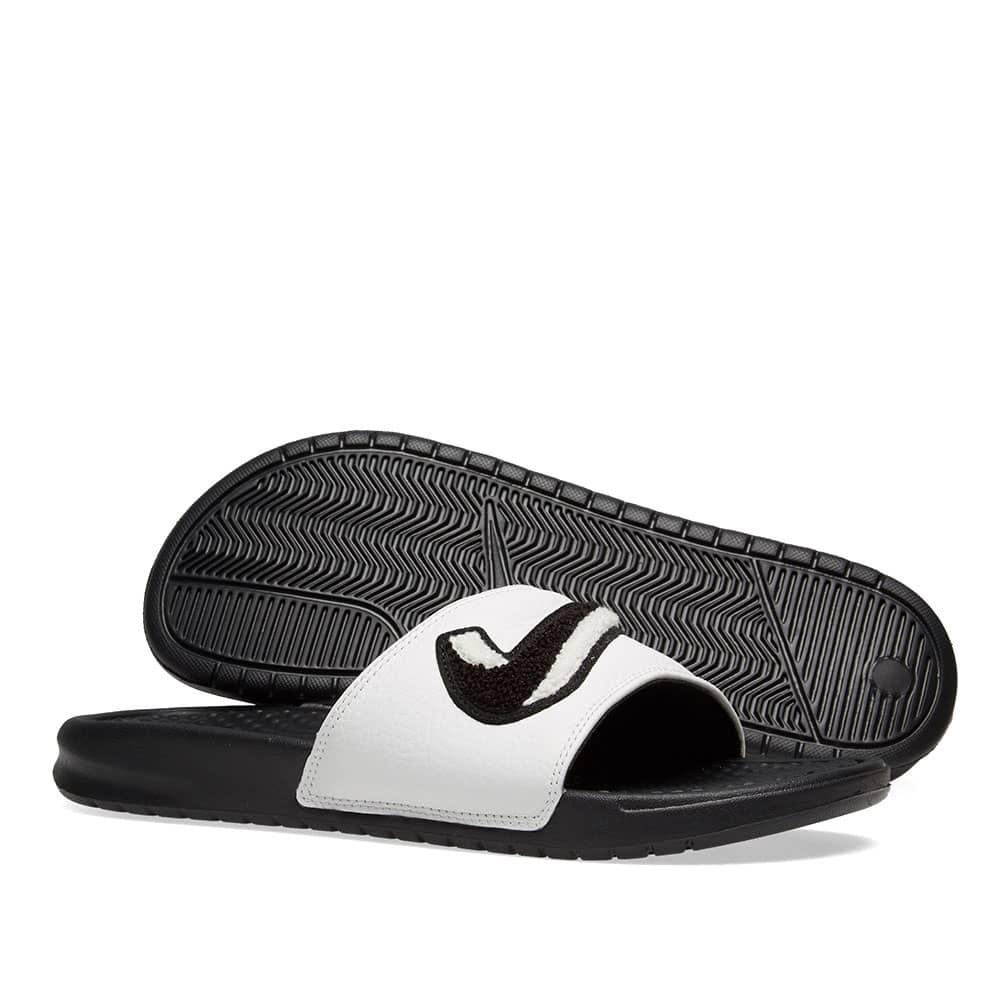 Nike Benassi JDI Chenille - Black & Summit White